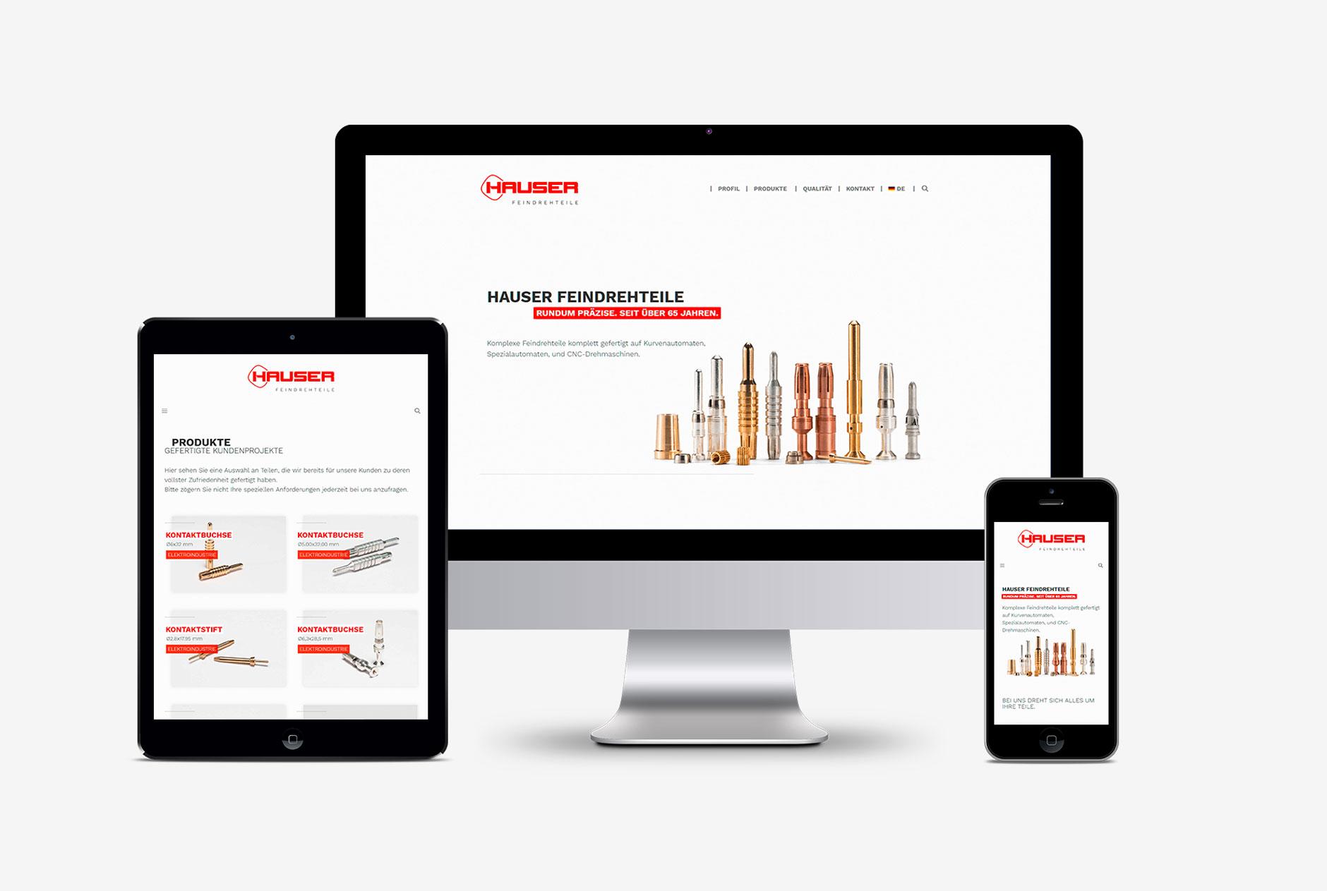 hauser feindrehteile tunigen webdesign wordpress-Webdesign Hauser Feindrehteile