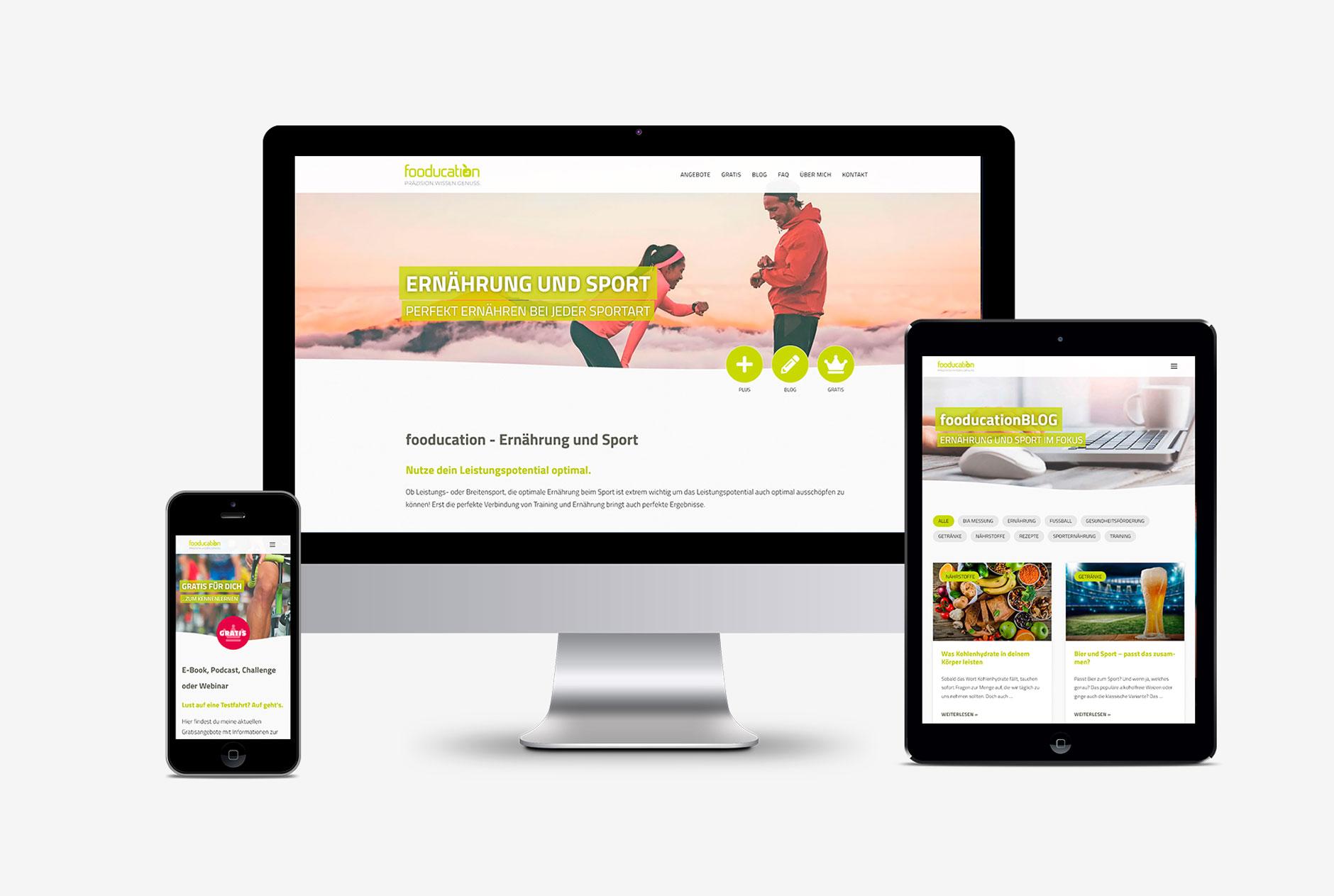 fooducation julia zichner ernaehrungsberatung sporternaehrung website design-Website Design fooducation
